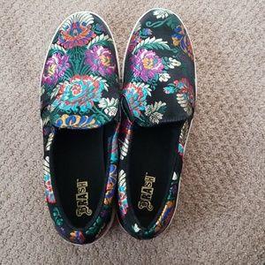 Rubber sole slides